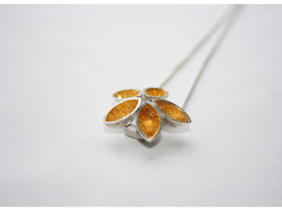 Five Point Flower One off contemporary jewellery design, Hand Made, Design, Jewellery design, Irish contemporary Design, Irish Design, Contemporary jewellery design, Sligo Jeweller, Sligo Goldsmith,