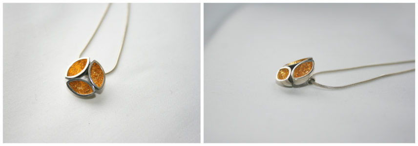 TriPod, Silver, Gold, Goldleaf, 24ct, Gold Gilt, AquaMarine, Pendant, One off contemporary jewellery design, Hand Made, Design, Jewellery design, Irish contemporary Design, Irish Design, Contemporary jewellery design, Sligo Jeweller, Sligo Goldsmith,