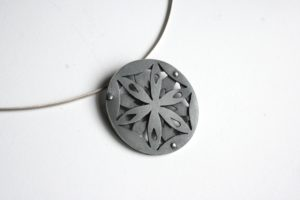 Tiffany, Budd, Irish design, Irish jewellery, Sligo jewellery, sligo jeweller, sligo goldsmith, Silver necklace, silver pendant, geometric jewellery, Oxerdised silver, Black silver, Designer, jewellwery designer, Irish Goldsmith, Irish design, Geometric design, Fair Trade