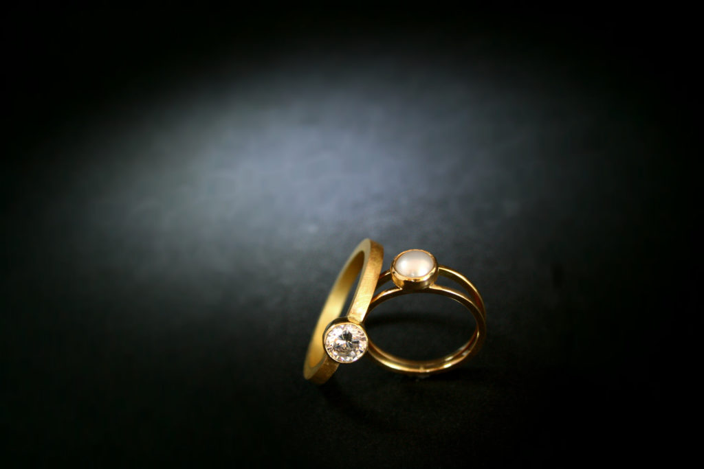 Gold, Engagment ring, Wedding Ring, Pearl, Diamond, Goldsmith, Jewellery, Jeweller, Sligo, Ireland
