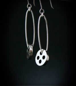 Silver, Earrings, Jewellery, Buttons, Silver bottons, Highend, Jewellery, Design, Goldsmith, Sligosmith, Sligo Ireland, Irish, Jeweller, Designer