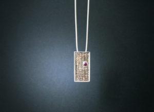 Ruby, Silver, Jewellery, jewelry, Highend, pendant, Silver, necklace, Sligo, Sligosmith, Goldsmith, Jeweller, Irish, Design, Irish design, Corundum