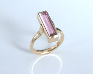 Irish Design, Contemporary, ring, Tourmaline, Pink Tourmaline, ring, Gold, Goldsmith, Sligo, Ireland, Tiffany Budd, Love, Jewellery, Jeweller,