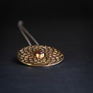 Instagram, Jewellery, drawing, Goldsmith, Jewellery, Oneoff, bespoke, Garnet, pendant, Irish, Sligo, Tiffany Budd, Making gold with garnet pendant